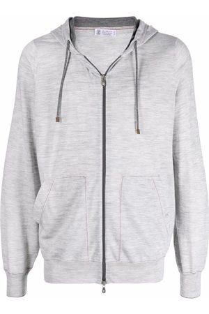 Brunello Cucinelli Zip-up wool hoodie - Grey