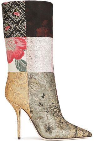 Dolce & Gabbana Women Heeled Boots - Patchwork-design high-heel boots - MULTICOLOUR