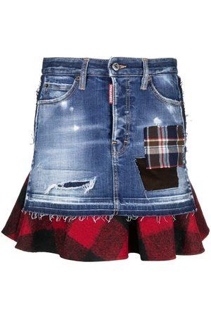 Dsquared2 Women Denim Skirts - Layered denim skirt
