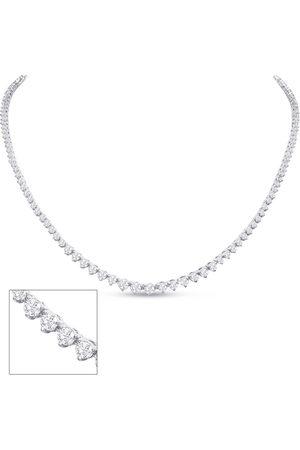 SuperJeweler Graduated 5 Carat Diamond Tennis Necklace in 14K (15.8 g)