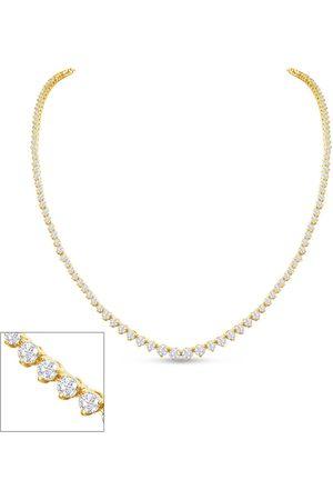 SuperJeweler Graduated 5 1/2 Carat Diamond Tennis Necklace in 14K (16.7 g)