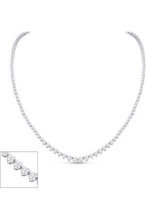 SuperJeweler Graduated 6 1/2 Carat Diamond Tennis Necklace in 14K (20.5 g)
