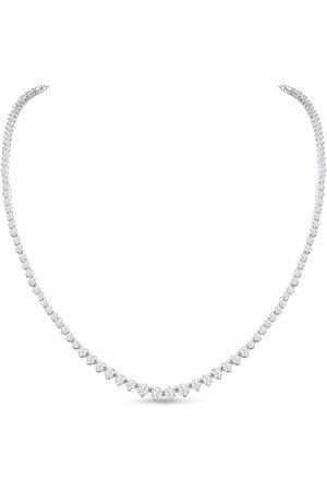 SuperJeweler Women Necklaces - Graduated 7 Carat Diamond Tennis Necklace in 14K (22.5 g)