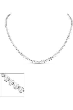 SuperJeweler Graduated 5 Carat Diamond Tennis Necklace in 14K (15 g)
