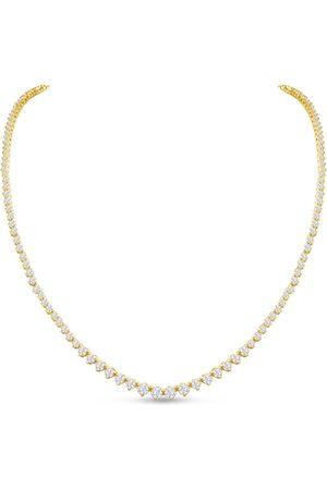 SuperJeweler Graduated 7 Carat Diamond Tennis Necklace in 14K (22.5 g)