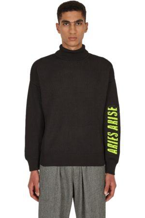 ARIES Men Turtlenecks - Rib press gothic knit turtleneck S