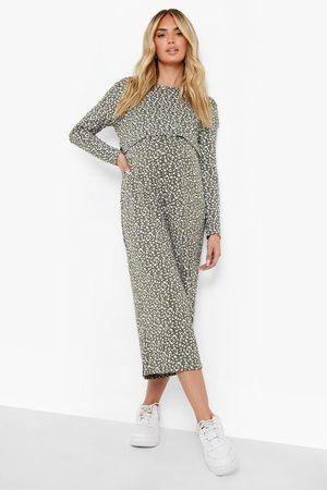 Boohoo Womens Maternity Ditsy Nursing Culotte Jumpsuit - - 4