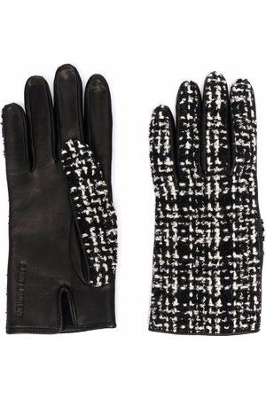 Saint Laurent Women Gloves - Tweed-panel gloves