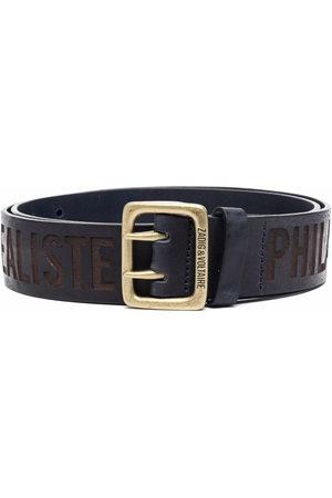 Zadig & Voltaire Men Belts - Buckley stamped belt