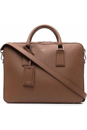 Sandro Men Laptop Bags - Saffiano leather briefcase