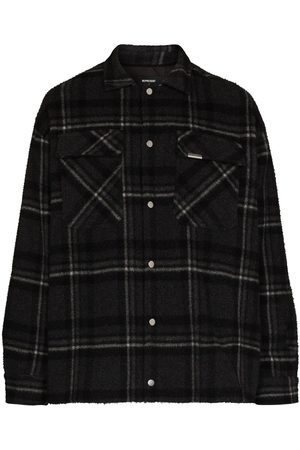 Represent Checked buttoned overshirt - Grey