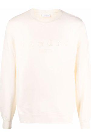 Sandro Men Sweatshirts - Logo-embroidered cotton sweatshirt