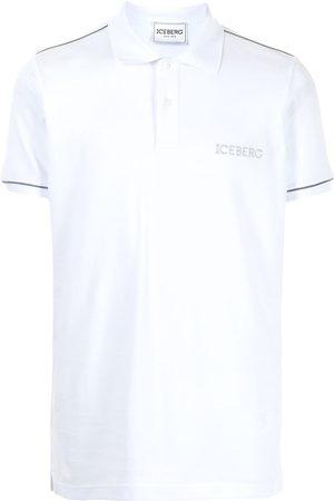 Iceberg Men Polo Shirts - Logo-embroidered cotton polo shirt