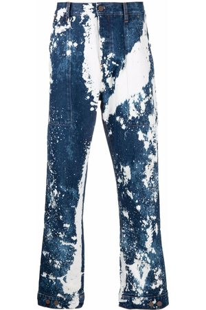 Palm Angels Men Relaxed Fit - Galaxy dyed loose-fit jeans