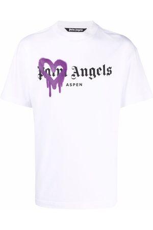 Palm Angels Men T-shirts - Sprayed heart T-shirt