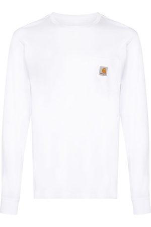 Carhartt Men Long Sleeve - Logo-patch long-sleeve T-shirt