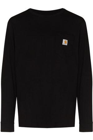 Carhartt Men T-shirts - CARHARTT CHST LG PKT LS TEE BLK