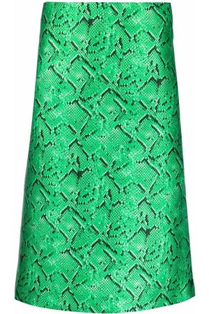 Msgm Women Printed Skirts - Snakeskin print straight skirt