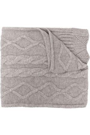 Pinko Women Scarves - Cable-knit wraparound scarf - Grey