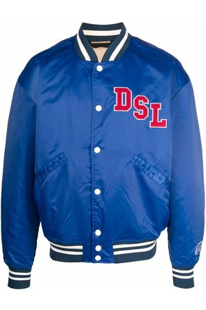 Diesel Men Bomber Jackets - J-Bulc satin bomber jacket