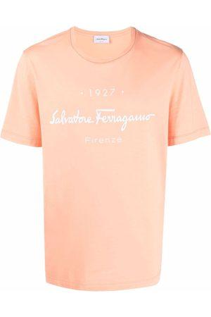 Salvatore Ferragamo Men T-shirts - 1927 Signature cotton T-shirt
