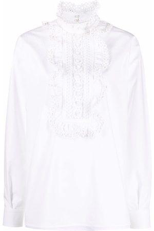 VALENTINO Women Shirts - Broderie anglaise-panel shirt