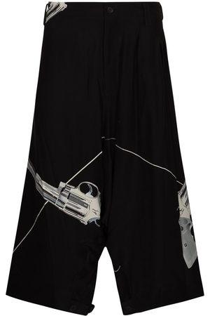 YOHJI YAMAMOTO Sarouel drop-crotch Bermuda shorts