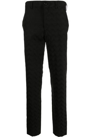 Comme des Garçons Men Formal Pants - Zig-zag print wool tailored trousers