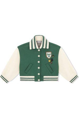 Dolce & Gabbana Girls Bomber Jackets - Patch-detail bomber jacket