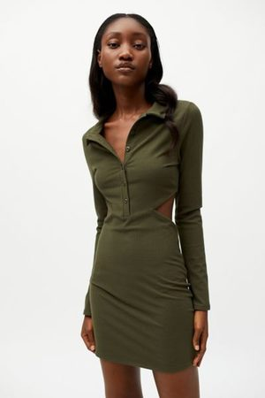 Urban Outfitters Women Party Dresses - UO Gwen Collared Cutout Mini Dress
