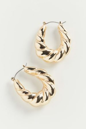 Urban Outfitters Twisted Hoop Earring