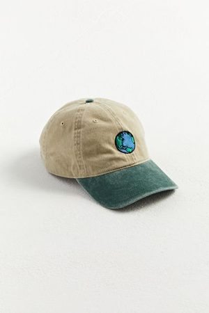Urban Outfitters Men Hats - Earth Embroidered Washed Baseball Hat