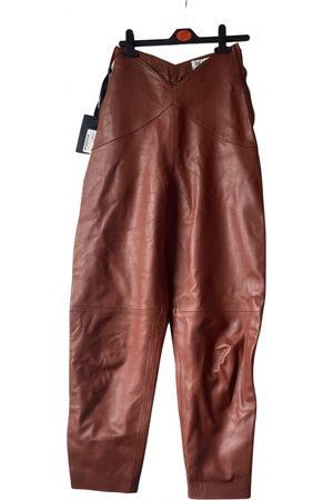 ATTICO Leather trousers