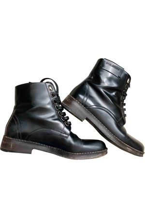 Dolce & Gabbana Leather lace up boots
