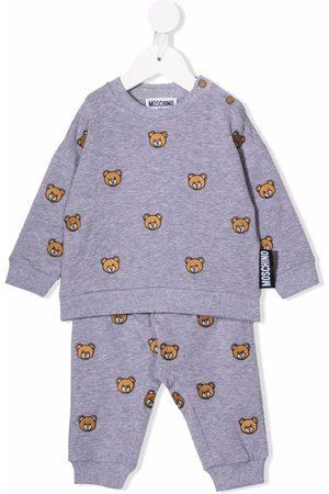 Moschino Sets - Teddy bear-print tracksuit set - Grey