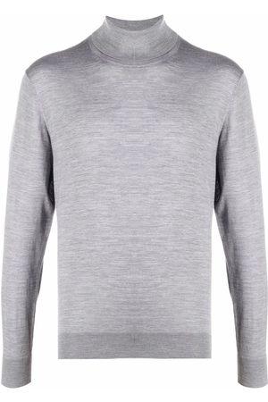 Z Zegna Men Turtlenecks - Roll neck wool sweater - Grey