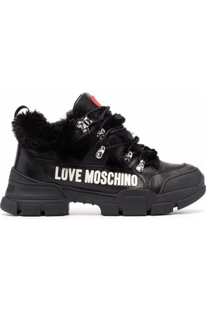 Love Moschino Women Sneakers - Lettering logo mid-top sneakers