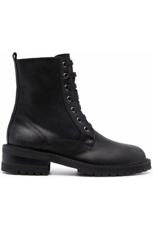 Via Roma Lace-up combat boots