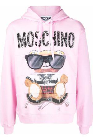 Moschino Men Hoodies - Bear-motif cotton hoodie