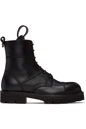 Dolce & Gabbana Men Lace-up Boots - Black Hardware Lace-Up Boots