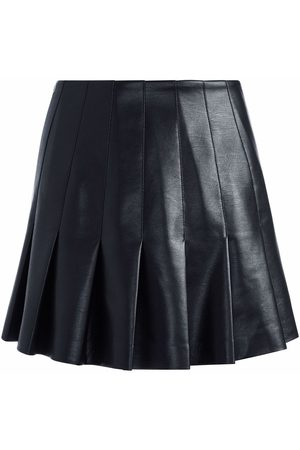 ALICE+OLIVIA Women Leather Skirts - Pleated faux leather skirt