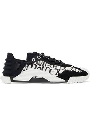 Dolce & Gabbana Men Sneakers - Black & White NS1 Graffiti Sneakers