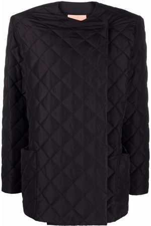 The Andamane Diamond-quilted collarless jacket