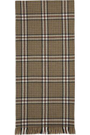 Uniforme Men Scarves - Brown Wool Double Side Scarf