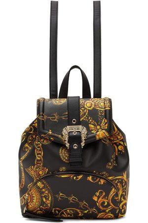 Versace Jeans Couture Women Rucksacks - Black Baroque Buckle Backpack