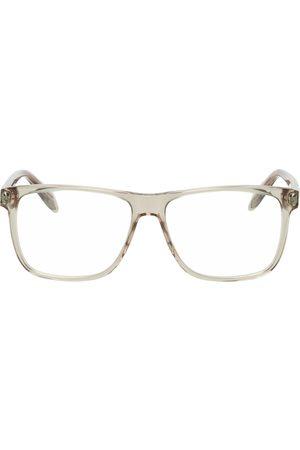 Alexander McQueen Men Sunglasses - Beige Rectangular Glasses