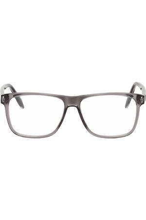 Alexander McQueen Men Sunglasses - Grey Rectangular Glasses