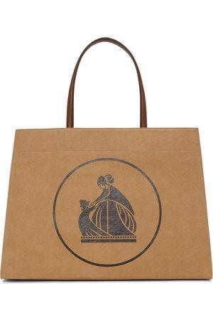 Lanvin Tan Medium Cabas Kraft Paper Bag
