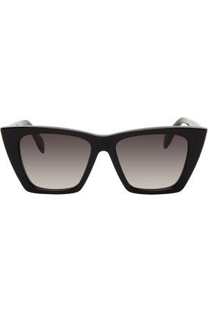 Alexander McQueen Men Sunglasses - Black Cat-Eye Sunglasses