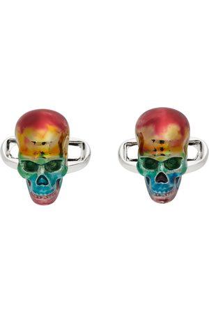 Paul Smith Men Cufflinks - Multicolor Rainbow Skull Cufflinks